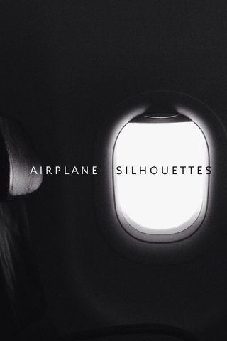 SILHOUETTES AIRPLANE