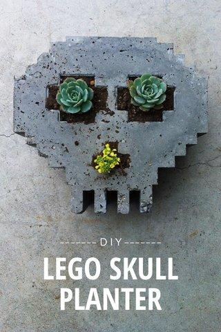 PLANTER LEGO SKULL ------- D I Y -------