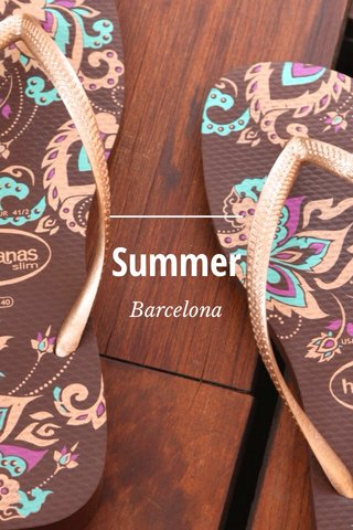 Summer Barcelona