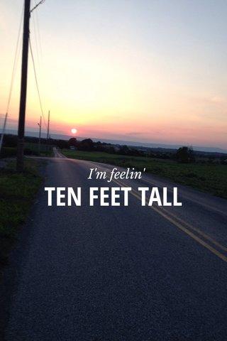 TEN FEET TALL I'm feelin'