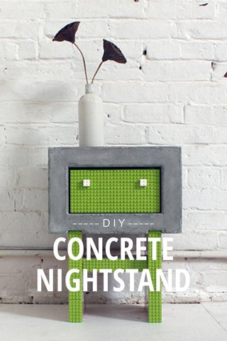 NIGHTSTAND CONCRETE ----- D I Y -----
