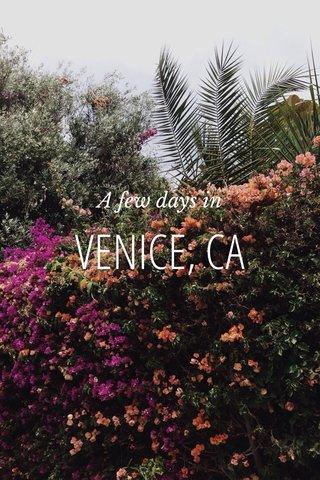 VENICE, CA A few days in