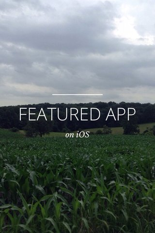 FEATURED APP on iOS