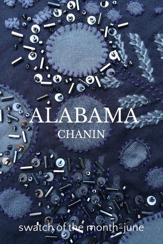 ALABAMA swatch of the month-june CHANIN