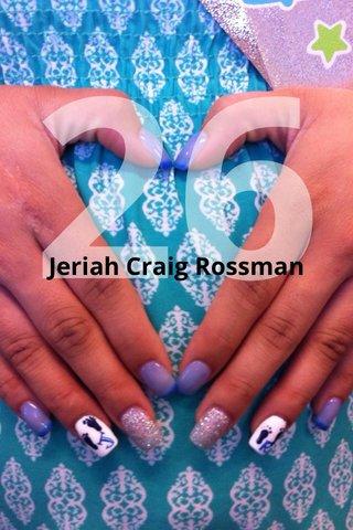26 Jeriah Craig Rossman