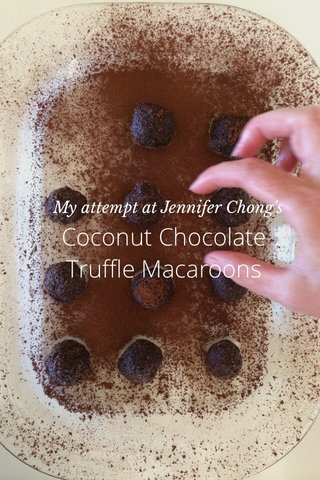 Coconut Chocolate Truffle Macaroons My attempt at Jennifer Chong's