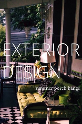 EXTERIOR DESIGN summer porch hangs