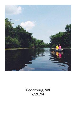 Cedarburg, WI 7/20/14