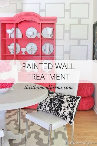 PAINTED WALL TREATMENT thistlewoodfarms.com