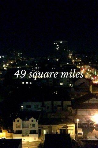 49 square miles