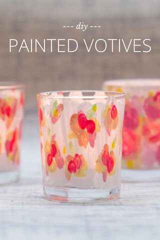 PAINTED VOTIVES --- diy ---