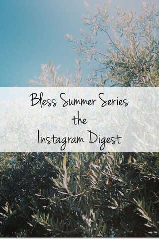 Bless Summer Series the Instagram Digest