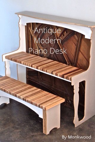 Antique Modern Piano Desk By Monkwood