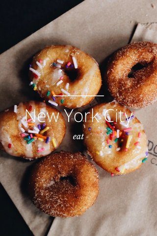 New York City eat