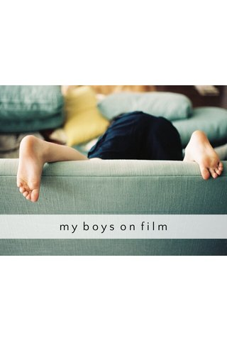 my boys on film