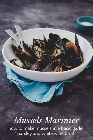 Mussels Marinier how to make mussels in a basic garlic, parsley and white wine broth