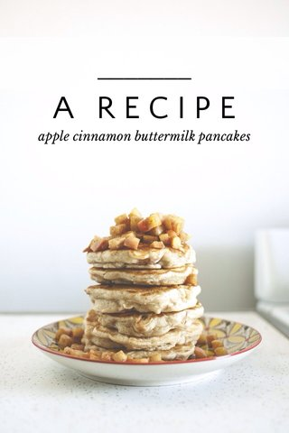 A RECIPE apple cinnamon buttermilk pancakes