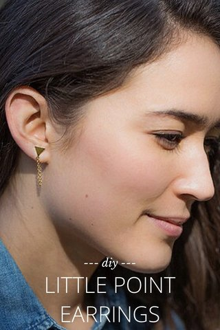 LITTLE POINT EARRINGS --- diy ---