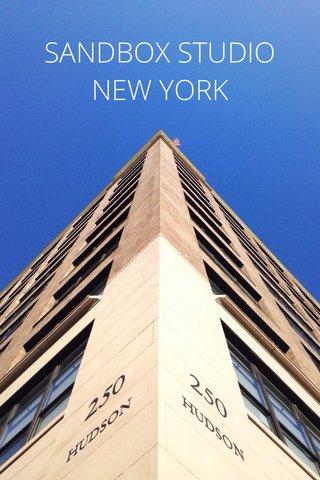 SANDBOX STUDIO NEW YORK