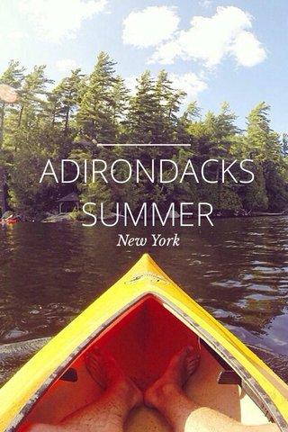 ADIRONDACKS SUMMER New York