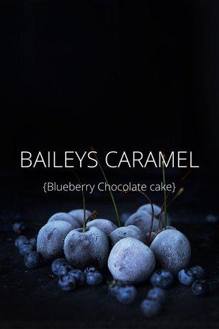 BAILEYS CARAMEL {Blueberry Chocolate cake}