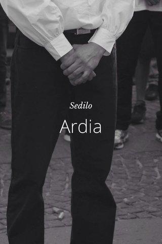 Ardia Sedilo