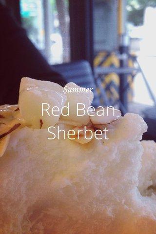 Red Bean Sherbet Summer