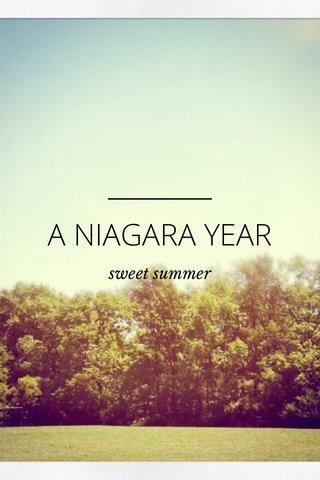 A NIAGARA YEAR sweet summer