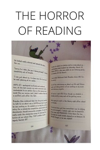 THE HORROR OF READING
