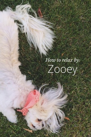 Zooey How to relax by: