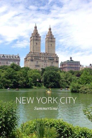 NEW YORK CITY Summertime