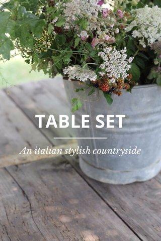 TABLE SET An italian stylish countryside