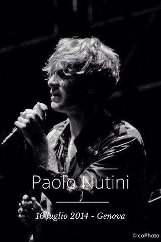 Paolo Nutini 16 luglio 2014 - Genova