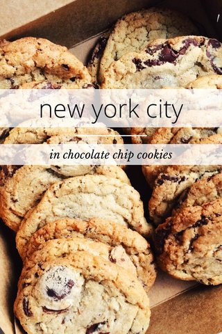 new york city in chocolate chip cookies