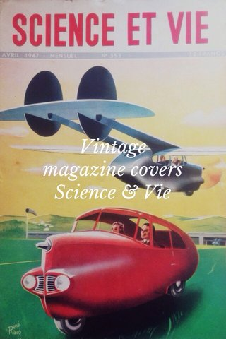 Vintage magazine covers Science & Vie