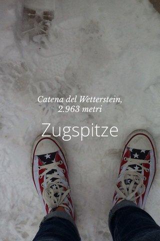 Zugspitze Catena del Wetterstein, 2.963 metri