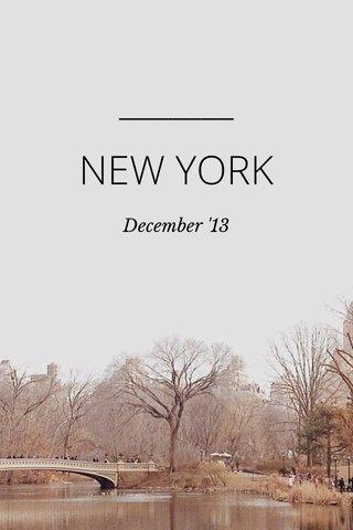 NEW YORK December '13