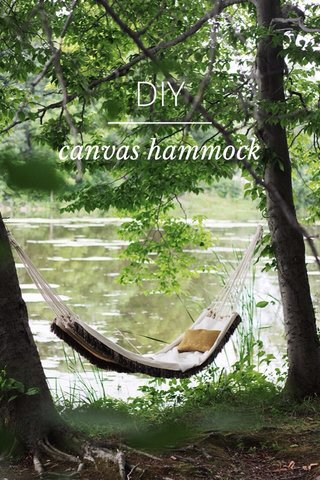 DIY canvas hammock