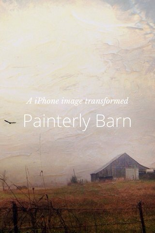 Painterly Barn A iPhone image transformed
