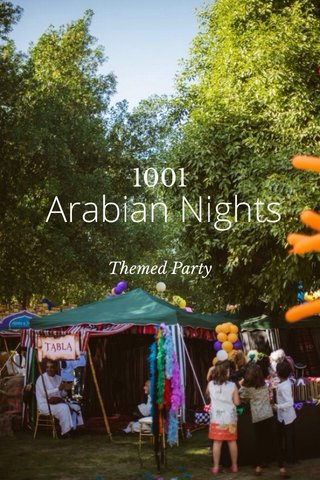 Arabian Nights 1001 Themed Party