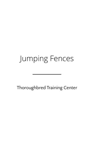 Jumping Fences Thoroughbred Training Center