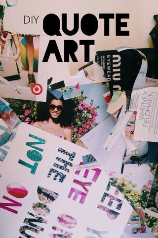 QUOTE ART DIY