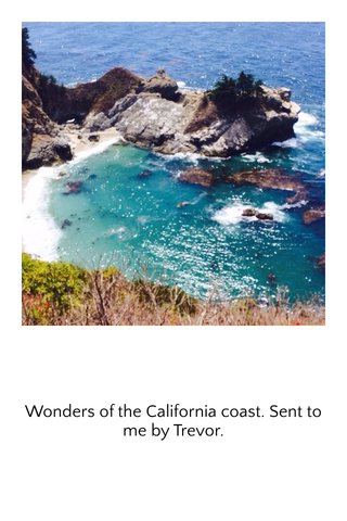 Wonders of the California coast. Sent to me by Trevor.