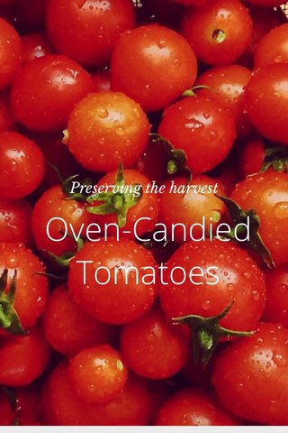 Oven-Candied Tomatoes Preserving the harvest