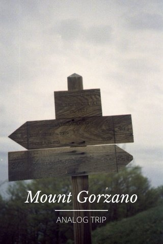 Mount Gorzano ANALOG TRIP