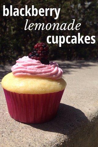 cupcakes blackberry lemonade