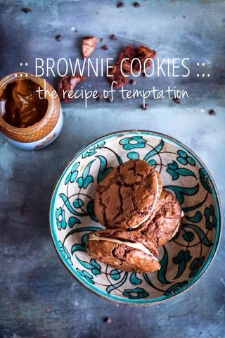 the recipe of temptation .:: BROWNIE COOKIES ::.