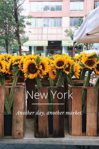New York Another day, another market.