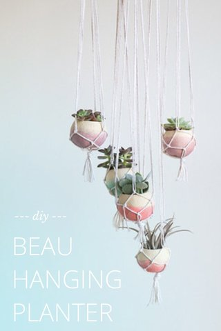 BEAU HANGING PLANTER --- diy ---