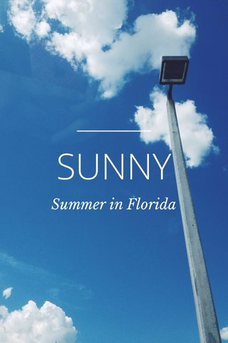 SUNNY Summer in Florida